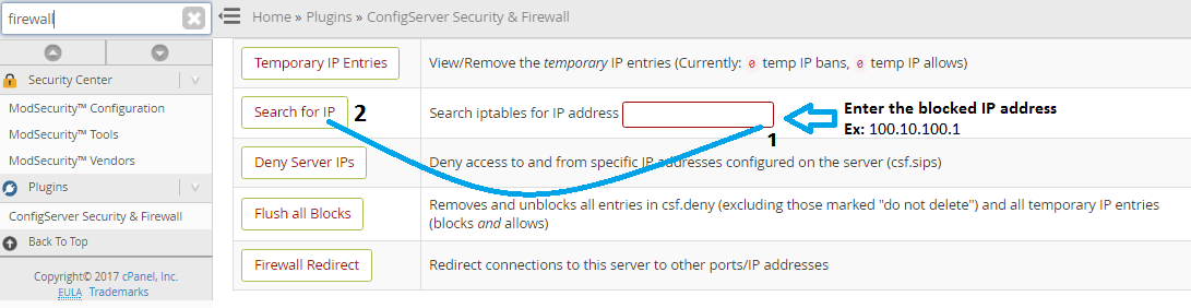 How to unblock an IP address from WHM & How to Block Traffic by